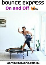 Rebounder Mini Trampoline EXERCISE DVD Barlates BOUNCE EXPRESS On and Off