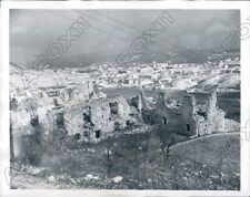 1950 Ruins Of Cassino Italy Overlooks The New City Being Built Press Photo