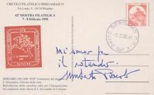 CASTELLI BOBINE £800 ISOLATO CARTOLINA COMMEM. 42A  MOSTRA FIL BG CON ERINNOFILO