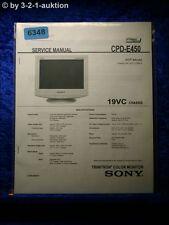 Sony Service Manual CPD e450 color monitor (#6348)