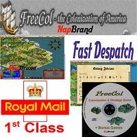 FreeCol- the colonization of America civilisation turn-based strategy PC game