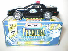 MATCHBOX PREMIER STATE POLICE COLLECTION KANSAS HIGHWAY PATROL CHEVY CAMARO