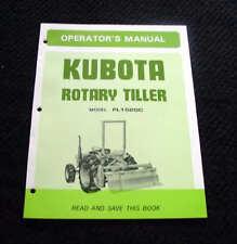 Kubota L295 L345 L 295 345 Dt Tractor Fl1520c Rotary Tiller Oper Amp Parts Manual