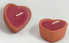 Terracotta Love Heart Red Wax Table Candle Wedding Romantic Dinner BUY QTY REQD