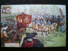 POSTCARD OXFORD PAGENT EARLY DAYS OF CIVIL WAR 1643 CHARLES MEETING HIS QUEEN AT