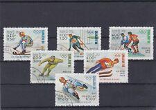 LAOS 1983 JEUX OLYMPIQUES HIVER SARAJEVO 6 TIMBRES  OBLITERE YT 487 A 492