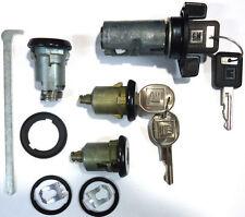 New GM OEM Black Ignition/Doors/Trunk Lock Key Cylinder Set With Keys To Match