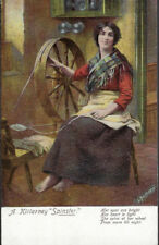 """SPINNING : A Killarney """"Spinster""""-ANTHONY-LAWRENCE"""