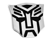QUALITY Transformers Autobot 3D Car Emblem Badge Sticker Decal Hood/Boot Chrome
