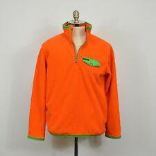 POLO Ralph Lauren $145 Blaze Hunter Orange Half Zip FLEECE Pullover JACKET / L