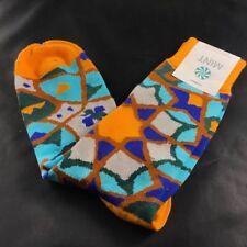 MINT Designer Mens Socks Kaleidoscope Pattern Orange Blue Turquoise Green Brown