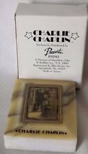 Charlie Chaplin Onyx Paperweight New in Box