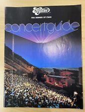 1983 Feyline Sumer Of Stars Red Rocks Colorado Concert Guide Music Memorabilia