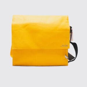 Jack Spade Industrial Messenger Bag Yellow Canvas Cloth SAMPLE