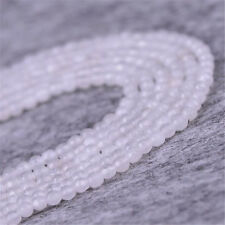 """1pcs 4MM White jade Faceted Gemstone Loose bead Top"""" Opaque Charm Wholesale"""