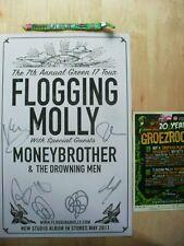 Flogging Molly - color music poster drunken lullabies signed autographed