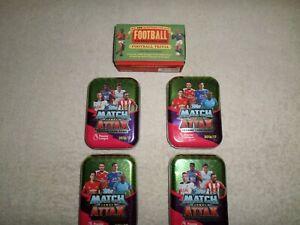 Match Attax 2016/2017 Tins of Cards x 4 + Football Quiz