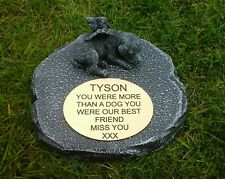 dog Large Pet Memorial/headstone/stone/grave marker/memorial with plaque ag1
