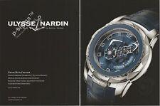 ULYSSE NARDIN BLUE CRUISER watch Print Ad