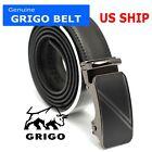 Automatic Ratchet Belt Genuine Leather Mens Belt With Slide Ratchet Belt For Men