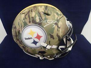 Ben Roethlisberger Signed Steelers Camo Speed Authentic Helmet Fanatics A826695
