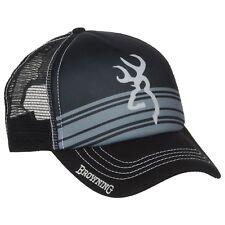 Browning Men's Cruiser Trucker Baseball Cap Hat Buckmark Logo Black One Size