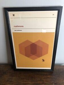 Vintage Wes Anderson, Rushmore Minimalist Movie Poster