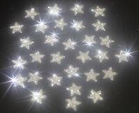 30 Etoiles Thermocollantes Flex, Flock, Patch, ARGENT SILVER glitter 1 cm