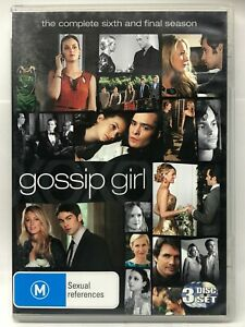 Gossip Girl - Complete Sixth Season - 3 DVD Set - AusPost with Tracking