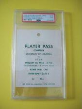 1968 UCLA vs Houston Basketball Player Pass RARE Game of Century! PSA 1 of 1!
