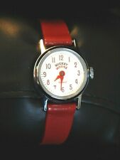 Vintage 1960s Ingersoll Mickey Mouse Mechanical Wrist Watch Disney US Time