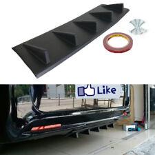 1pc Matte Black ABS Car Body Kit Rear Bumper Lip 5 Fins Style Diffuser Universal