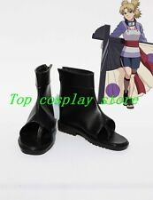 Naruto Anime Temari Ninjia Cosplay Shoes Boots #NAR018 pu leather shoe boot