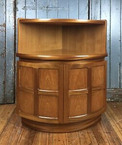 Mid-Century Corner Credenza in Teak...Made by 'Nathan' England... Superb Quality