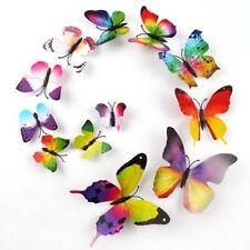 12Pcs / Set 3D Butterfly Wall Sticker Kid Room Home Decor Magnet DIY Craft Decal