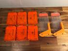 Lot of 8 Nerf N-Strike Elite Dart Gun Ammo Magazine System 6x6 &2x12 Round Clips