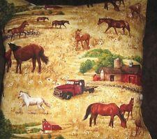 "FARM HORSES 18""  PILLOW COVER"