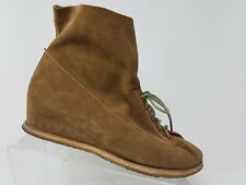 Matt Bernson Womens Wedge Boot Size 9 Brown Suede Leather Gum Sole