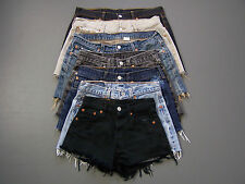 Levis 501 Womens High Waisted Hotpants Denim Jeans Shorts B Grade vtg size 6 -18