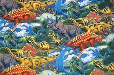 A Dinosaur - Dino - Allover Printed Fleece Throw Blanket