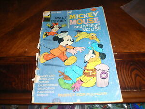 Lot 7 Disney Comics Mickey Mouse Donald Duck Goofy Uncle Scrooge Rare 1970's