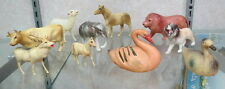 10 misc. old animals / farm & forrest / celluloid material / auction fresh toys