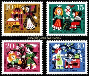 EBS Germany 1964 Grimms' Fairy Tales (VI) Sleeping Beauty - Michel 447-450 MNH**
