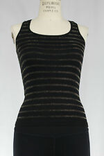 New Free People Womens Seamless Sparkle Striped Racerback Tank Top Cami $28