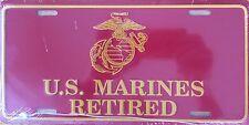 U.S. MARINES RETIRED Premium Embossed License Plate (LP-1109-156)