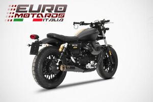 Moto Guzzi V9 Bobber /Roamer 16-19 Zard Exhaust Dual Slim Slipon Black Silencers