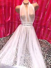 Victorias Secret Designer Collection Plunge Sheer Gown Large $378