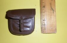 Marx SINGLE Brown Saddle bag tack REPLACEMENT 1/6 Cavalry Johnny  West FAF Horse