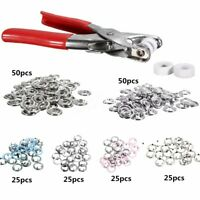 200pcs Prong Pliers Ring Press Studs Snap Popper Fasteners 9.5mm DIY   C