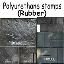 Polyurethane ( Rubber ) Stamps Printed Mold Plaster Stamping Floor Decor Form